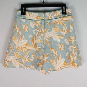 H&M leaf geometric print shorts 2